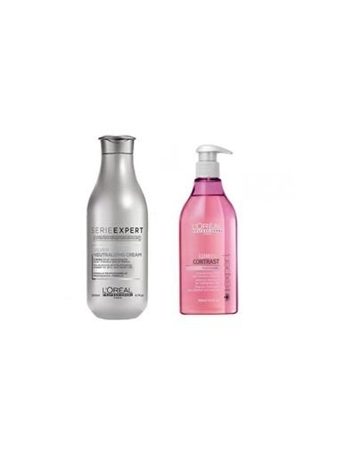 L'oreal Professionnel Loreal Serie Expert Lumino Contrast Röfleli Saç Şampuanı 500 Ml+Silver Neutralising Gümüş Krem 200 Ml Renksiz